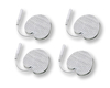 4 x Tens Ems Electrodes Pads 32 mm Round Self Adhesiv